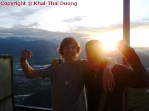 Reise nach Nepal - Sonnenaufgang in Sarangkot.