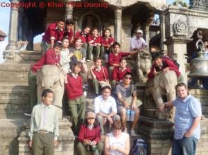 Ehrenamt in Nepal - Ausflug mit Schulklasse nach Bhaktapur.
