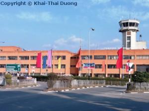 Ankunft in Nepal - Tribhuvan International Airport in Kathmandu