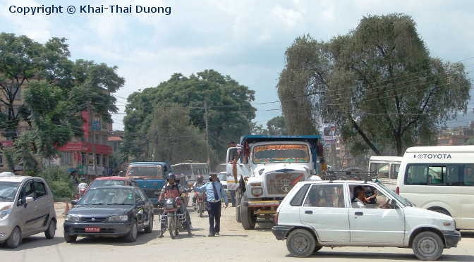 Verkehr in Nepal - Taxi, Bus, Rikscha