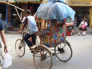 Nepal Verkehr - Öffentliche Verkehrsmittel: Rikscha