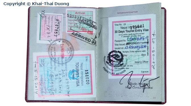 Nepal Touristen-Visum für deutsche Staatsangehörige.