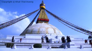 Boudhanath Stupa Kathmandu - größter Stupa der Welt.