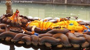 Sleeping Vishnu at Buddhanilkantha, Narayanthan, Kathmandu.