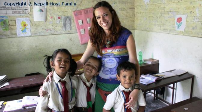 Ehrenamt und Volontariat in Nepal.