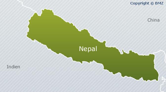 Nepal geographische Lage und Geographie (Quelle: BMZ)