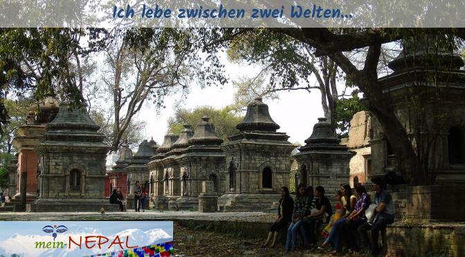 Zwischen zwei Welten zu leben ist nicht einfach... (Foto vom Pashupatinath Tempel)