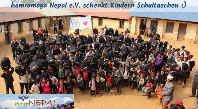 Beim Schultaschen-Projekt werden Schultaschen an Kinder in entlegendsten Regionen verschenkt.