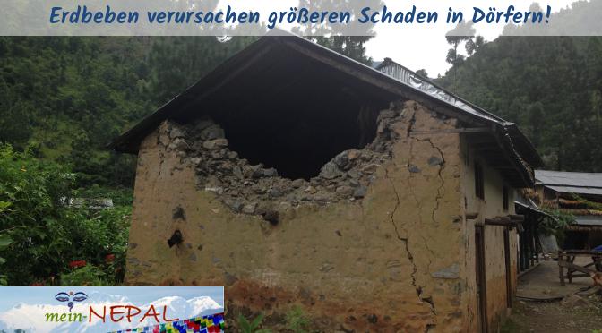 Der Schaden während des Erdbebens war in den Dörfern weitaus größer als in Kathmandu!