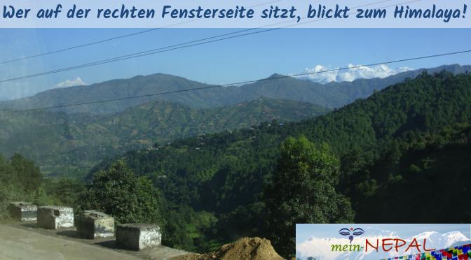 An klaren Tagen kann man den Himalaya schon sehr früh am Horizont erkennen.