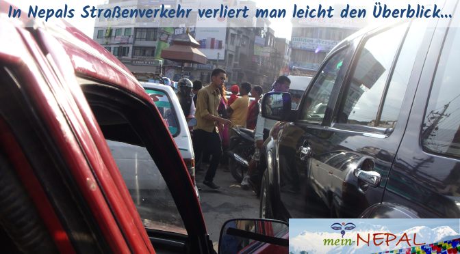 Auf den Straßen Nepals geht es wild zur Sache...
