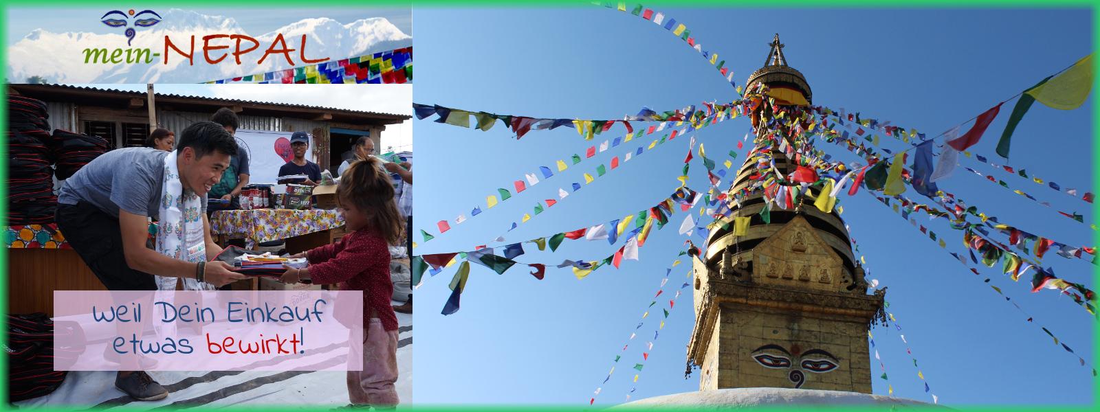 Im mein-Nepal Shop kannst Du mit Deinem Einkauf Hilfsprojekte in Nepal unterstützen.