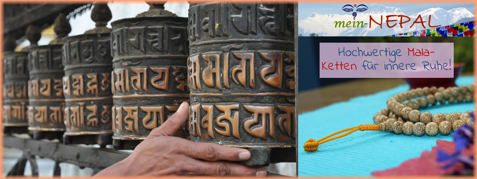 Hochwertige Mala Gebetsketten original aus Nepal!