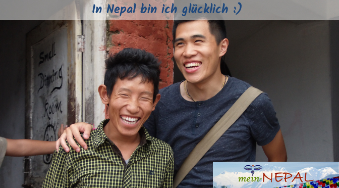 Wahres Glück in Nepal.