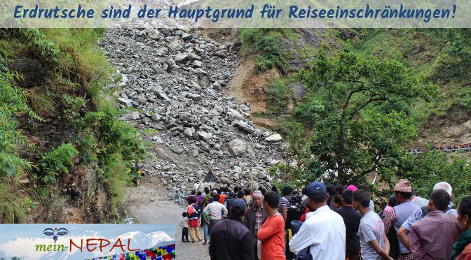 Auf den langen Strecken im Mittelgebirge kann es zu Erdrutschen kommen, die den Verkehr stark verzögern.