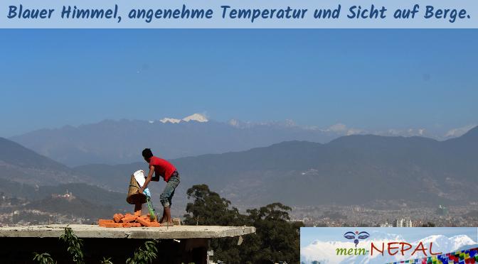 Die Hochsaison für Nepal Reisen stellt der Winter dar. Klarer Himmel versprechen ein schönes Panorama.