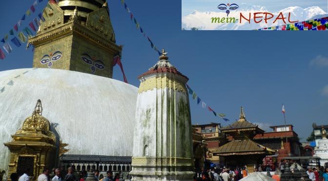Swayambhunath Stupa in Kathmandu - Der Monkey Temple
