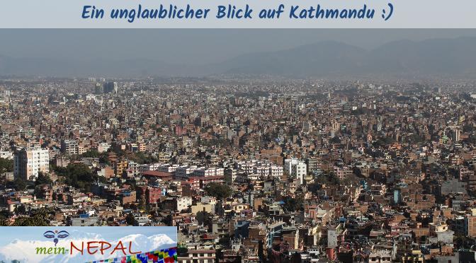 Auf einem Hügel gelegen, bietet Swayambhu einen tollen Blick auf das Kathmandu-Tal.