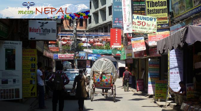 Thamel ist das Touristenzentrum von Kathmandu in Nepal.