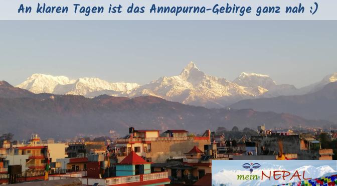 In Pokhara lässt sich die Aussicht genießen :)