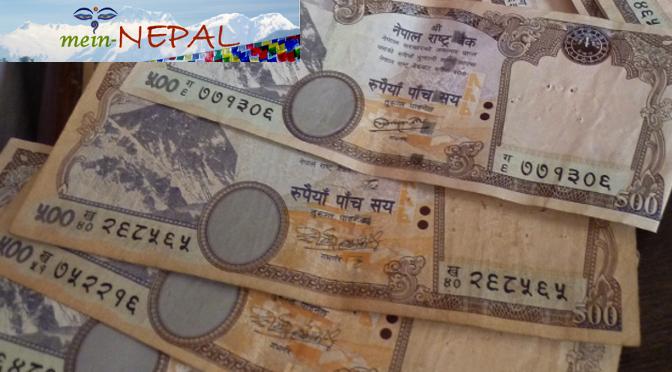 Geld und Währung in Nepal - die nepalesische Rupie.